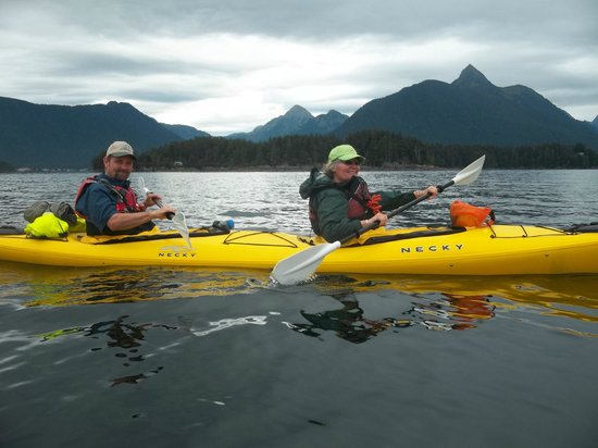 Sitka Sound Ocean Adventures: the hubs and I paddling and having the time of our life