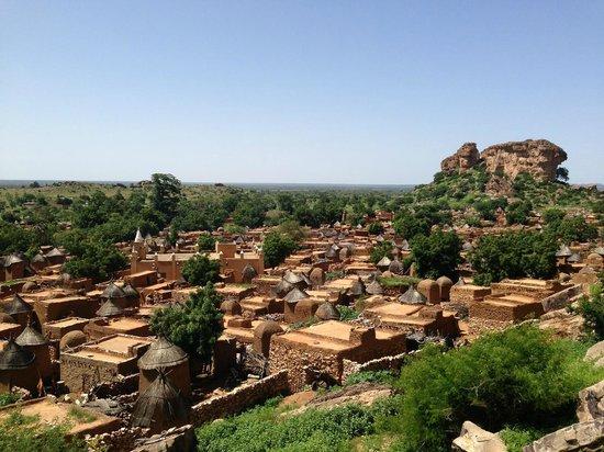 Mopti, Mali: La plupart des maison de Songho sont faites de banco.