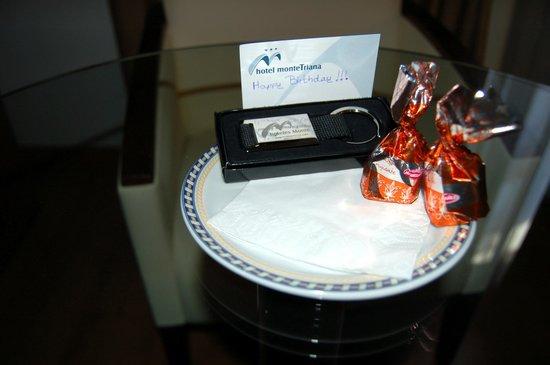 Hotel Monte Triana: Petite attention