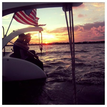Sailaway Clear Lake Charters: sunset on the back steps