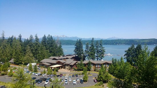 Alderbrook Resort & Spa: From the easy walking trails above the hotel.