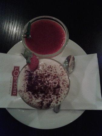 L'Osteria : Tiramisu and Panna Cotta
