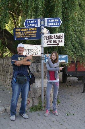 Perimasali Cave Hotel - Cappadocia: road up to hotel