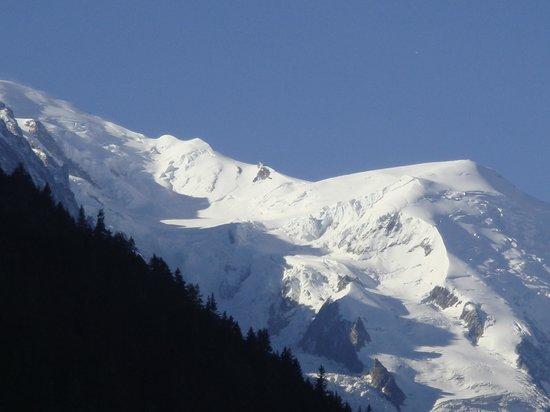 Hôtel Les Grands Montets : le mont blanc