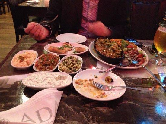 ADA-Turkish Barbeque & Meze Bar: Veggie starters and main.