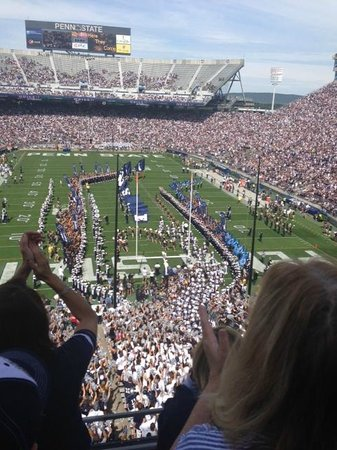 Penn State University: View as the team enters