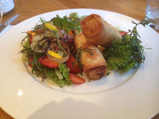 Acorn Vegetarian Kitchen: Cheese parcels