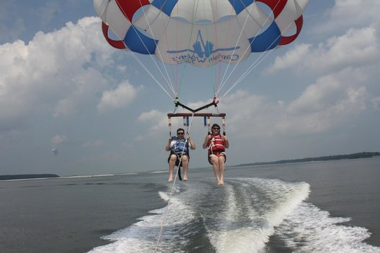 Parasail Hilton Head: in for a landing