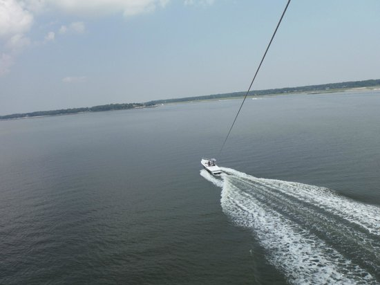 Parasail Hilton Head: view of the boat