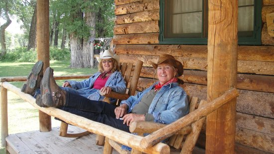 The Lazy L&B Ranch: relaxing at cabin