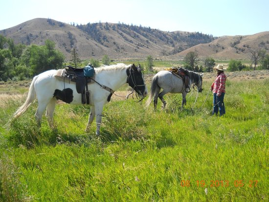 The Lazy L and B Ranch: relaxing on trail