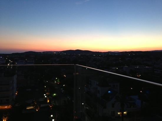 Nube Skybar: view from the rooftop bar at sunset