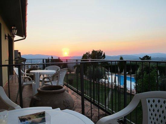 Fattoria degli Usignoli : Sunset from Room Balcony