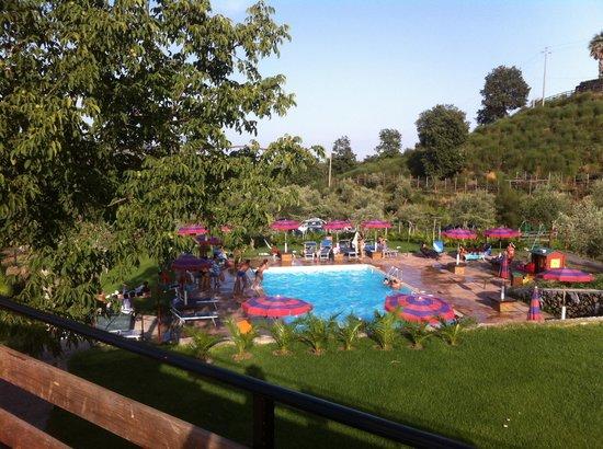 Piedimonte Etneo, Italia: Piscina Vista dalla terrazza