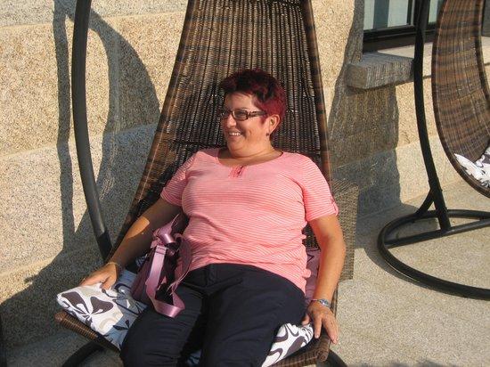 Enoturismo Lagar de Costa: Descansando en la terraza
