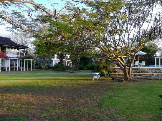 Bajo Komodo Eco Lodge: acrooss the lawn