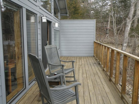 Beaver Lakefront Cabins: The back porch