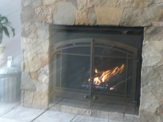 Beaver Lakefront Cabins: The fireplace