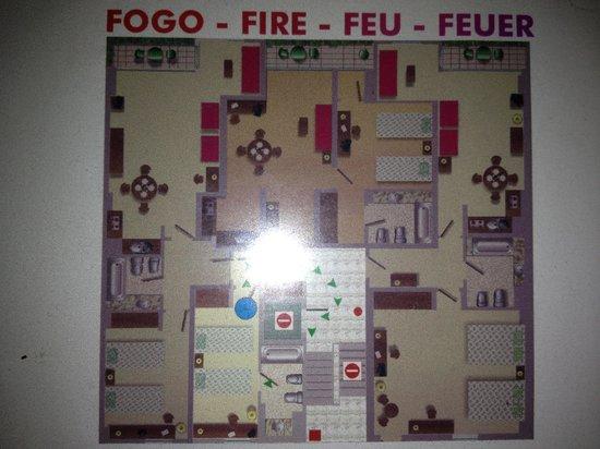 Hotel Apartamentos Gaivota: План этажа