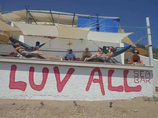 Chilling at Luv All Sea Bar with incredible views