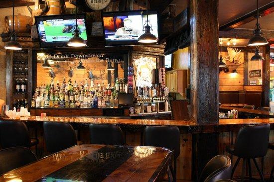 The Buffalo Bar: behind bar