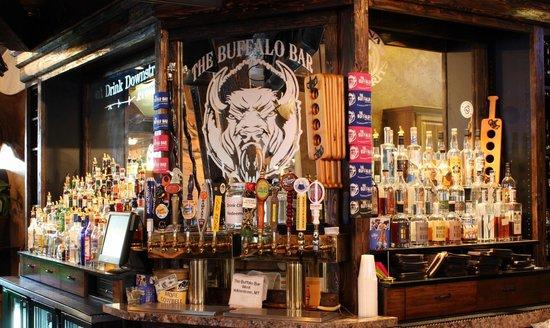 The Buffalo Bar: beer taps