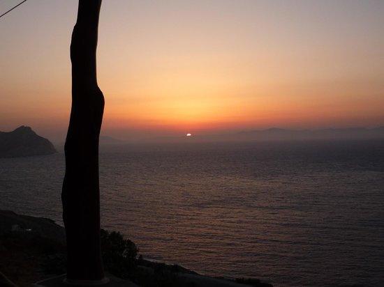 Pano Gitonia: Coucher de soleil depuis la terrasse