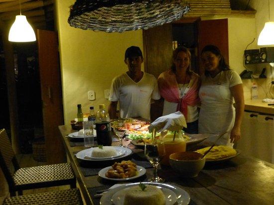 Soleluna Casa Pousada: Jantar feito pela Jassi e João
