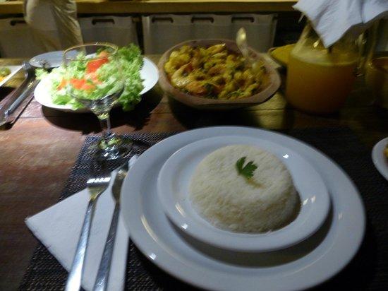 Soleluna Casa Pousada: Jantar na pousada feito pela Jassi