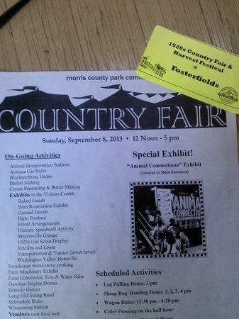 Fosterfields Living Historical Farm: Country Fair flyer