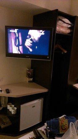 Ibis Rotorua: TV, réfrigérateur, penderie, etc.