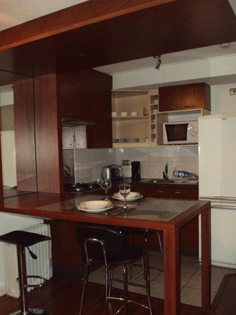 Museo De Artes Apartments : kitchen area