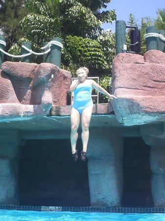 Adventure Island : Jumping from the rocks