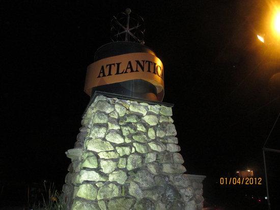 Atlantica Restaurant: Outside Sign