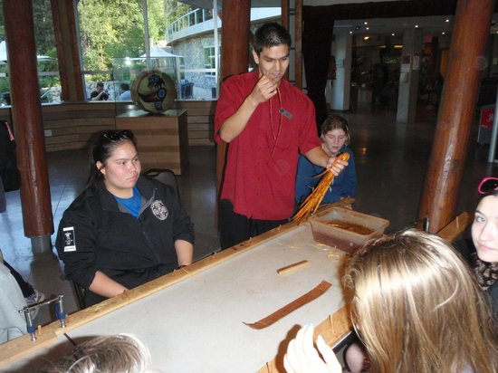 Squamish Lil'wat Cultural Centre: My students loved making the cedar bark friendship bracelets.