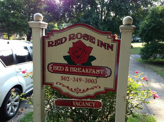 Red Rose Inn Bed and Breakfast : Welcome sign