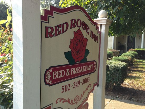 Red Rose Inn Bed and Breakfast: Welcome sign