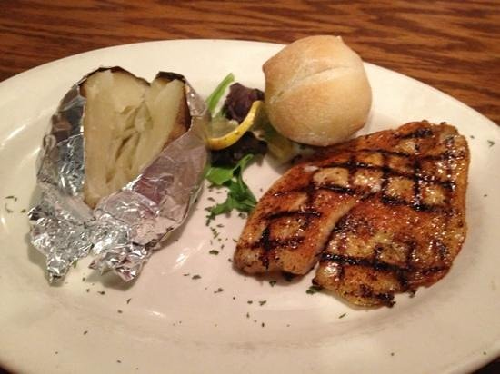 JW Steakhouse: Blackened Tilapia with Baked Potato