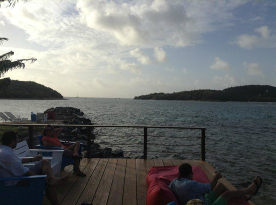 Back Deck at Saba Rock