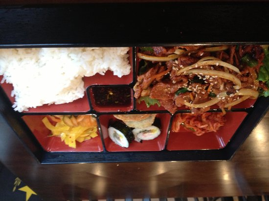 Stone Bowl: Bento Box Lunch- Bulgogi