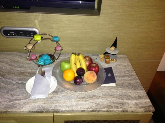 Hilton Capital Grand Abu Dhabi: In room -- welcome!!
