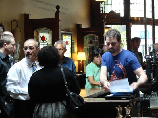Buckingham Arms : The pub has a busy lunch trade.