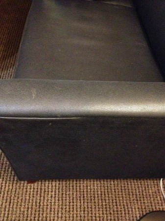 Homewood Suites by Hilton San Jose Airport-Silicon Valley : how do you stain a leather sofa?