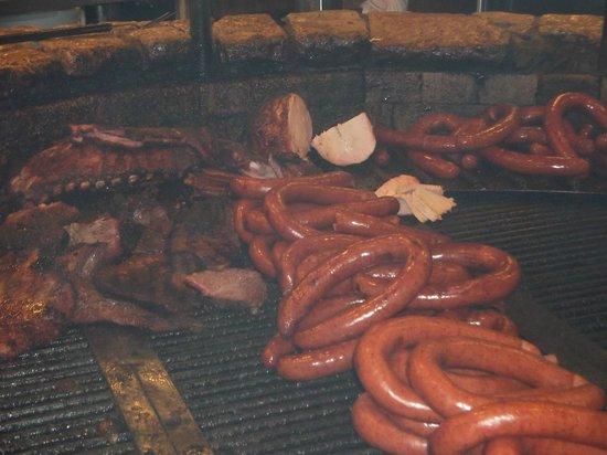 Salt Lick BBQ: Meats on grill