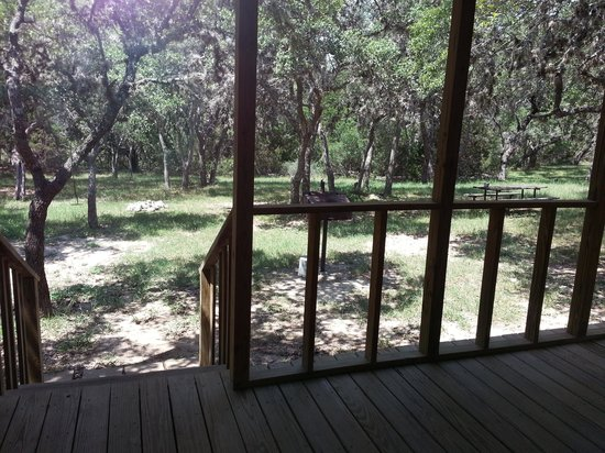 The Lodges at Lost Maples: I loved the back porch of the Red Rooseter
