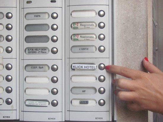 Klick Hotel Milano: Ingreso