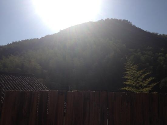 Moganshan Shambhala Residential Retreat: view from the breakfast terrace