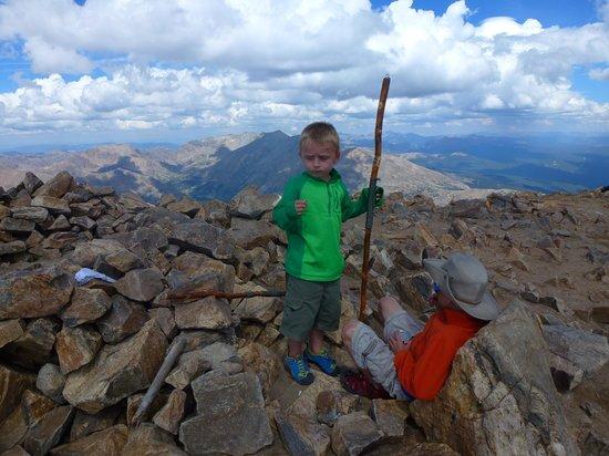Mount Elbert: at the summit