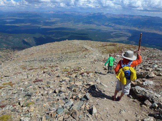 Mount Elbert: headed down
