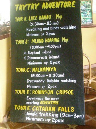 Casa Rosa Taytay: Tours on offer